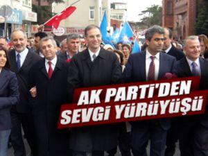 AK Parti'den sevgi yürüyüşü