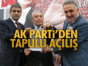 AK Parti'den Tapulu açılış
