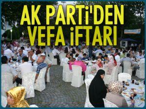 AK Parti'den vefa iftarı