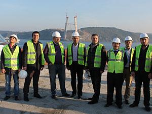 AK Partililer 3. Köprü inşaatını gezdi