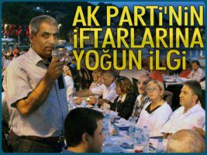 AK Parti'nin iftarlarına yoğun ilgi