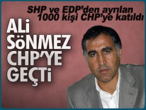 Ali Sönmez CHP'ye geçti