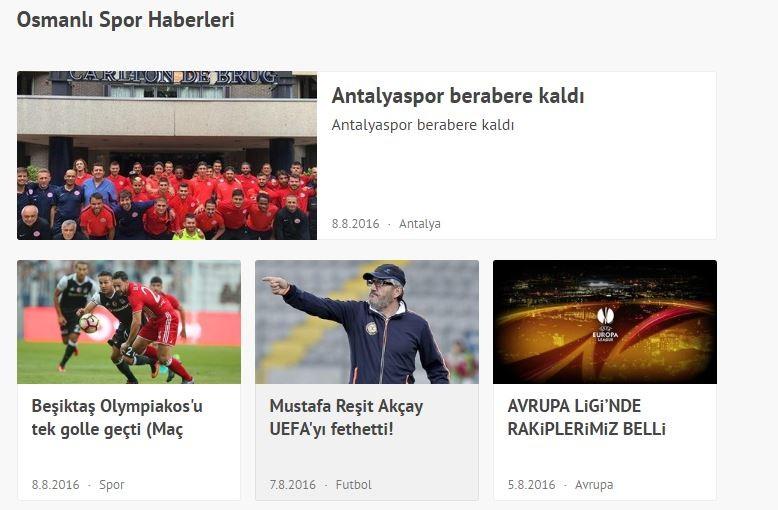 Anadolunun Yükselen Takımı; Osmanlıspor ve Hürriyetin Özel Osmanlı Spor Taraftar Sayfası