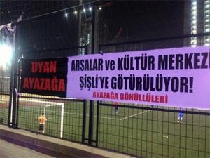 Ayazağada Mustafa Sarıgüle tepki