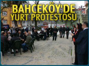 Bahçeköy'de yurt protestosu