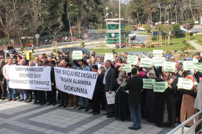 Belediye meclisinde Armutlu protestosu