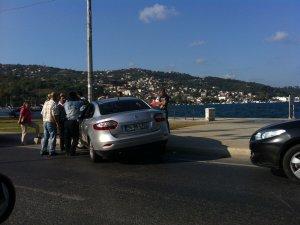 Belediye personeli kaza geçirdi