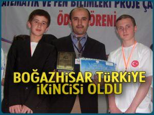 Boğazhisar Türkiye ikincisi oldu