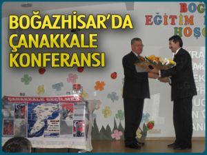 Boğazhisar'da Çanakkale konferansı