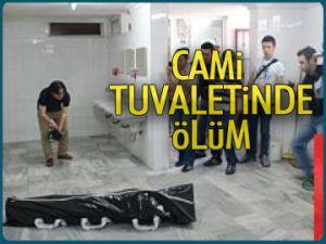 Cami tuvaletinde ölüm