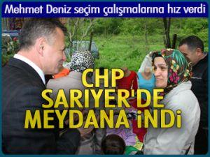 CHP Sarıyer'de meydana indi