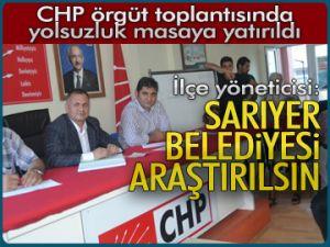 CHP'li yönetici:Belediye araştırılsın