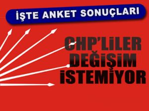 CHP'liler değişim istemiyor
