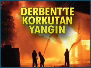 Derbent'te korkutan yangın