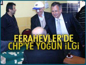 Ferahevler'de CHP'ye yoğun ilgi