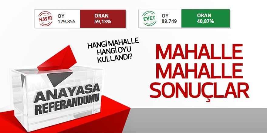 Sarıyer'de mahalle mahalle referandum sonuçları 1