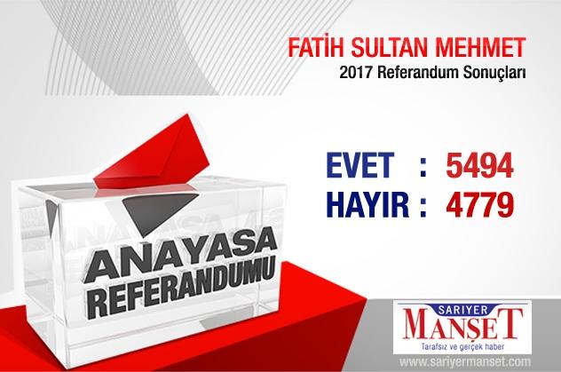 Sarıyer'de mahalle mahalle referandum sonuçları 13
