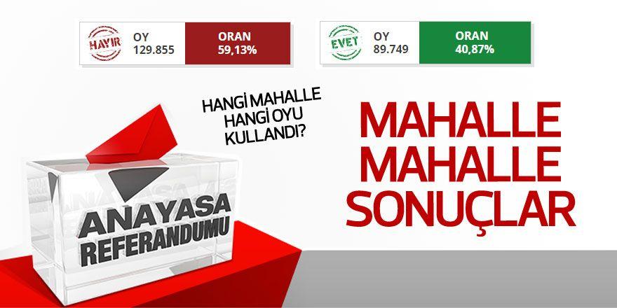 Sarıyer'de mahalle mahalle referandum sonuçları