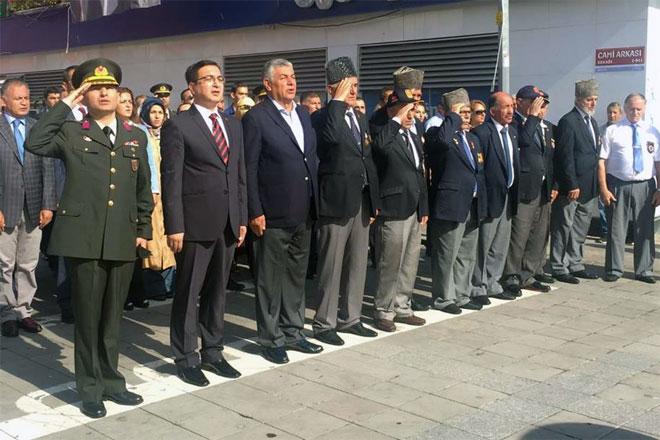 Gaziler günü için Sarıyer'de tören düzenlendi