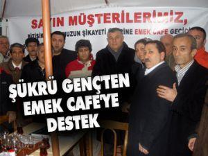 Genç'ten Emek Cafe'ye destek