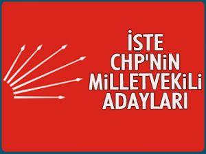 İŞTE CHP'NİN ADAYLARI