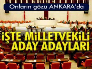 İşte Milletvekili aday adayları