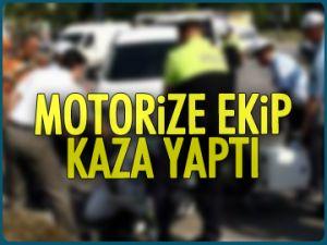 İstinye'de motorize ekip kaza yaptı