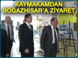 Kaymakam'dan Boğazhisar'a ziyaret