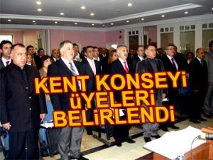 Kent Konseyi üyeleri belirlendi