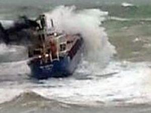 Kilyos'ta sürüklenen gemi kurtuldu