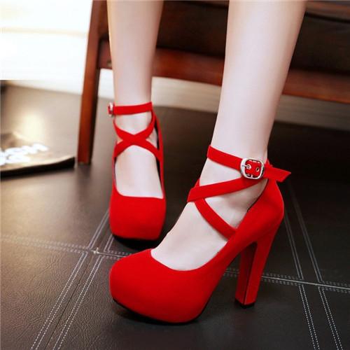 Kırmızı Topuklu Ayakkabı Pelin Ayakkabı