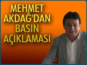 Mehmet Akdağ'dan basın açıklaması