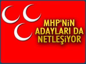 MHP'nin adayları da netleşiyor