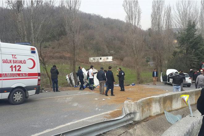 Zekeriyaköy yolunda feci kaza!