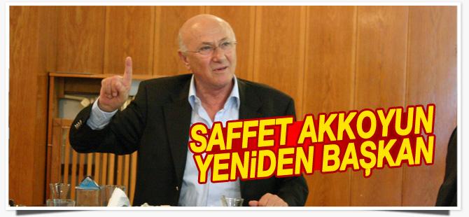 Saffet Akkoyun yeniden başkan seçildi