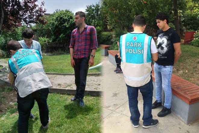 Mobil Park Polisi iş başında