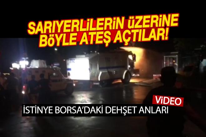 İstinye'de dehşet anlarının video görüntüleri!