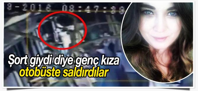 Maslak'ta otobüse binen genç kıza şort giydi diye saldırdılar - VİDEO