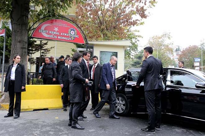 Cumhurbaşkanı Erdoğan Tarabya Karakolunu ziyaret etti