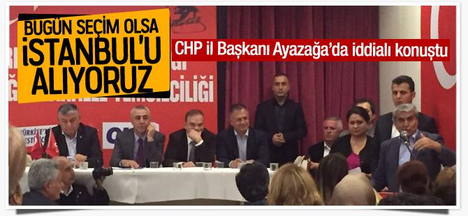 CHP İl Başkanı Cemal Canpolat Ayazağa'da iddialı konuştu
