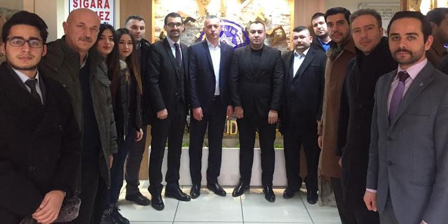 MHP'den emniyete taziye ve moral ziyareti