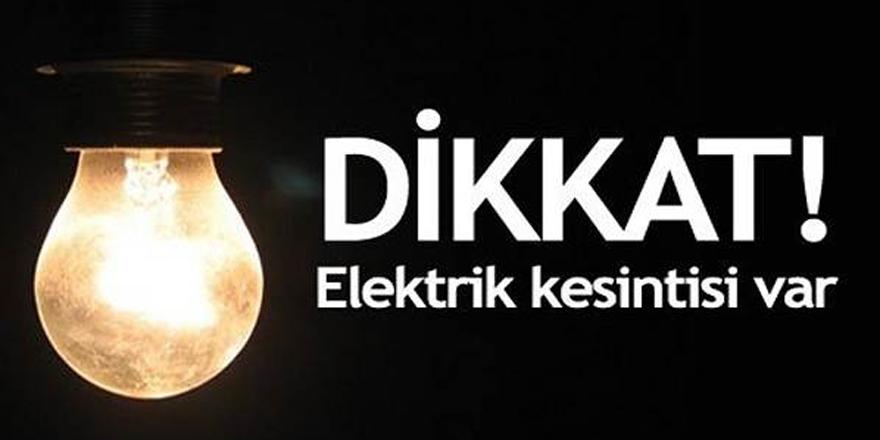 Sarıyer'de elektrik kesintisi