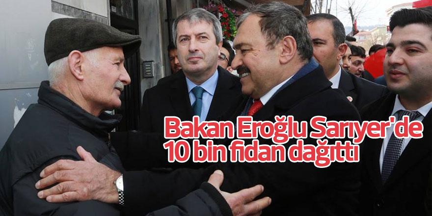 Bakan Eroğlu Sarıyer'de 10 bin fidan dağıttı