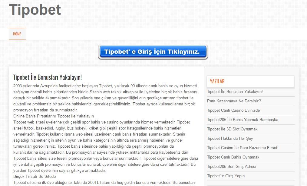 Bahis Oyunlarının Adresi Tipobet