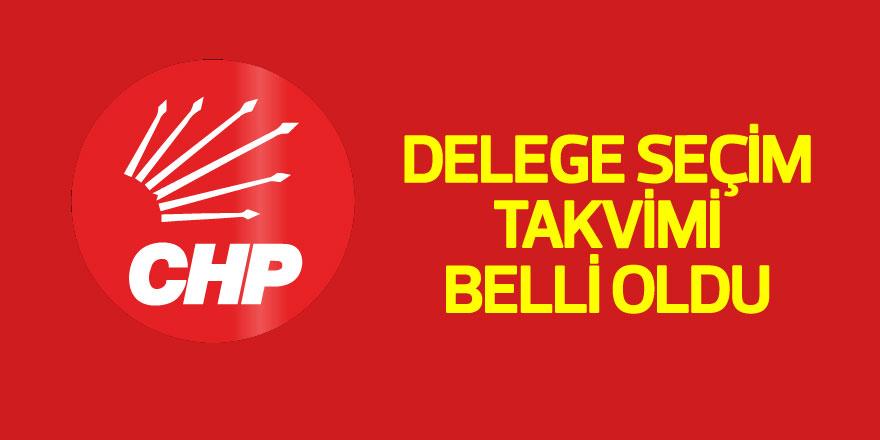CHP'de delege seçim takvimi belli oldu