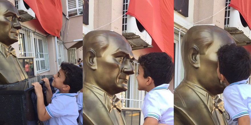 Minik öğrencinin Atatürk sevgisi