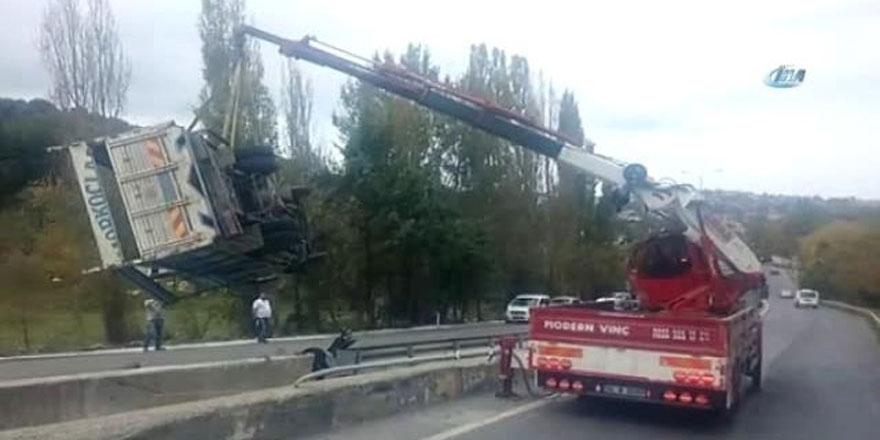 Sarıyer'de yine aynı yer yine kaza: 1 yaralı