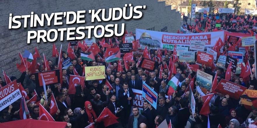 İstinye'de 'Kudüs' protestosu