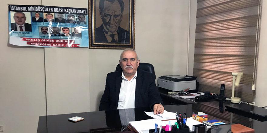 İstanbul Minibüsçüler Odası'nın yeni Başkanı Kazım Bilge oldu