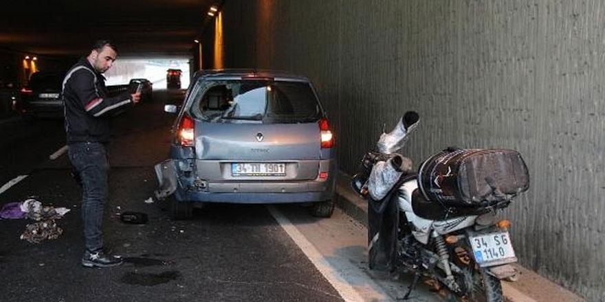 Sarıyer'de Motosiklet Kazası: 1 Yaralı